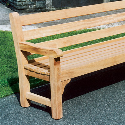 1800 Kensington Seat in iroko