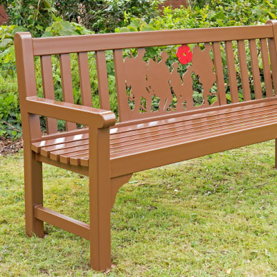 Warwick Memorial Seat in Brown